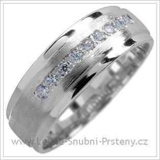 Snubní prsteny LSP 1737 bílé zlato