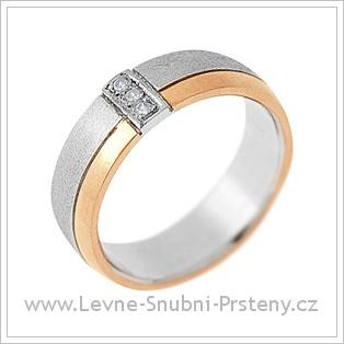 Snubní prsteny LSP 1738 kombinované zlato