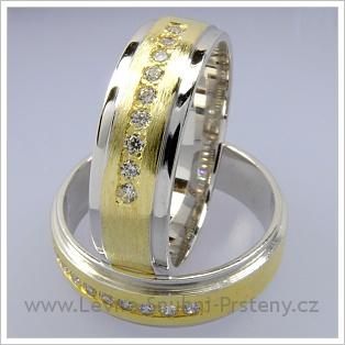 Snubní prsteny LSP 1740 kombinované zlato