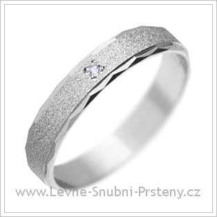 Snubní prsteny LSP 1743 bílé zlato