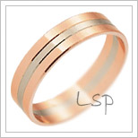 Snubní prsteny LSP 1746 kombinované zlato