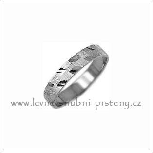 Snubní prsteny LSP 1747b bílé zlato