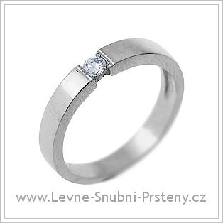 Snubní prsteny LSP 1748 - bílé zlato