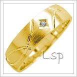 Snubní prsteny LSP 1749 žluté zlato