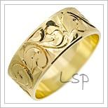 Snubní prsteny LSP 1751 žluté zlato