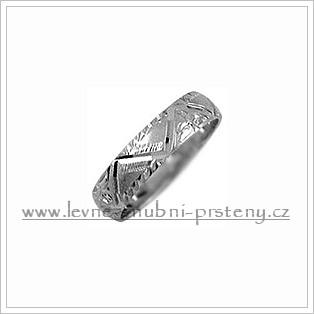 Snubní prsteny LSP 1754b bílé zlato