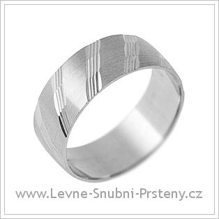 Snubní prsteny LSP 1755 - bílé zlato