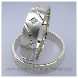 Snubní prsteny LSP 1756 bílé zlato