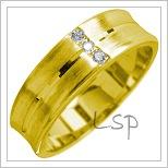 Snubní prsteny LSP 1757 žluté zlato