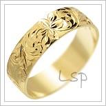 Snubní prsteny LSP 1758 žluté zlato