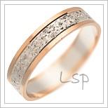 Snubní prsteny LSP 1759 kombinované zlato