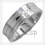 Snubní prsteny LSP 1761 bílé zlato