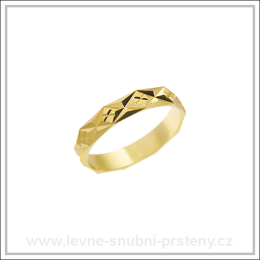 Snubní prsteny LSP 1762 žluté zlato