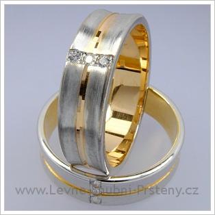 Snubní prsteny LSP 1766 kombinované zlato