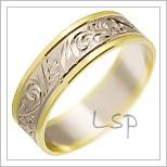 Snubní prsteny LSP 1767 kombinované zlato
