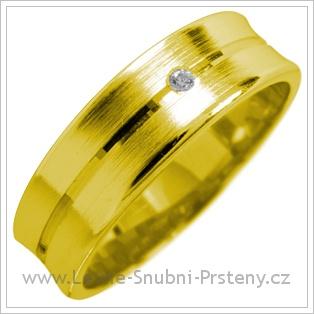 Snubní prsteny LSP 1768 žluté zlato