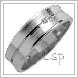 Snubní prsteny LSP 1770 bílé zlato