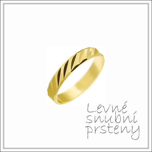 Snubní prsteny LSP 1772 žluté zlato