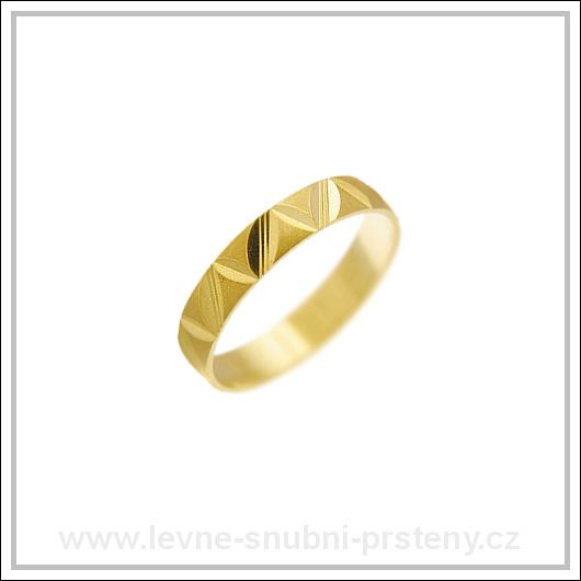 Snubní prsteny LSP 1773 žluté zlato
