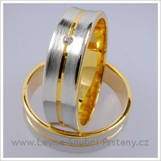 Snubní prsteny LSP 1775 kombinované zlato