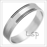 Snubní prsteny LSP 1776 bílé zlato