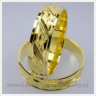 Snubní prsteny LSP 1777 žluté zlato