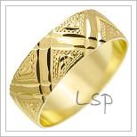 Snubní prsteny LSP 1781 žluté zlato