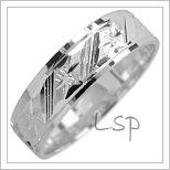 Snubní prsteny LSP 1782 bílé zlato