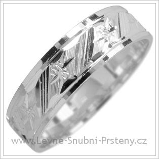 Snubní prsteny LSP 1782 kombinované zlato