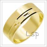 Snubní prsteny LSP 1785 žluté zlato