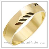 Snubní prsteny LSP 1787 žluté zlato