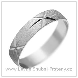 Snubní prsteny LSP 1788 bílé zlato