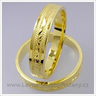 Snubní prsteny LSP 1790 žluté zlato
