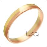 Snubní prsteny LSP 1793 kombinované zlato