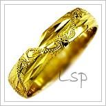 Snubní prsteny LSP 1794 žluté zlato