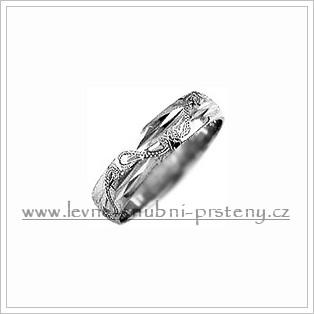 Snubní prsteny LSP 1794b bílé zlato