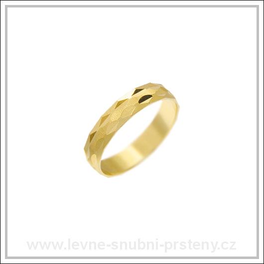 Snubní prsteny LSP 1796 žluté zlato