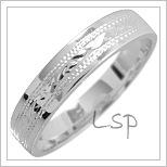 Snubní prsteny LSP 1797 bílé zlato