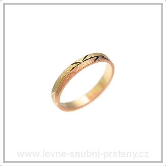 Snubní prsteny LSP 1799 kombinované zlato