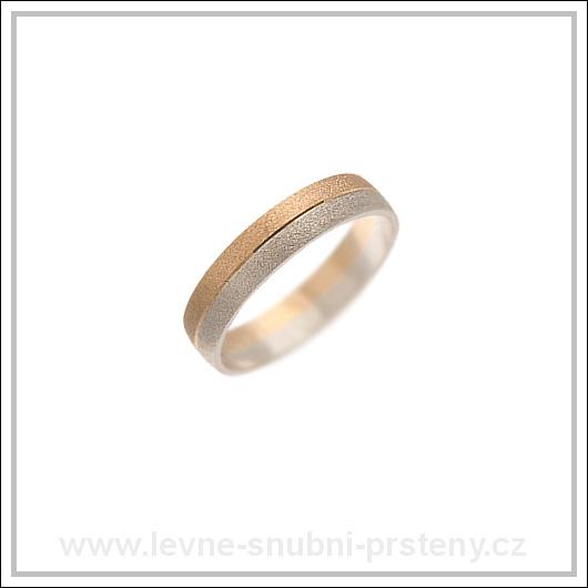 Snubní prsteny LSP 1800 kombinované zlato