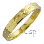 Snubní prsteny LSP 1802 žluté zlato