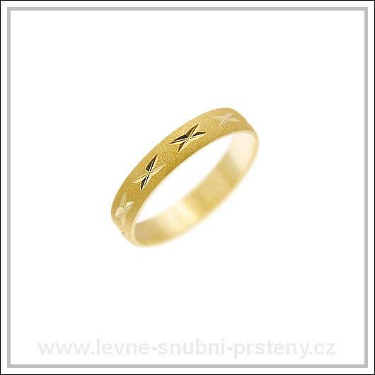 Snubní prsteny LSP 1804 žluté zlato