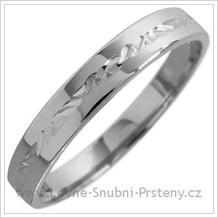 Snubní prsteny LSP 1807 bílé zlato