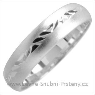 Snubní prsteny LSP 1812 bílé zlato