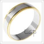 Snubní prsteny LSP 1813 kombinované zlato