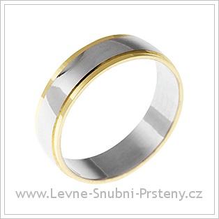 Snubní prsteny LSP 1813 žluté, bílé a žluté zlato