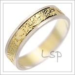 Snubní prsteny LSP 1814 kombinované zlato