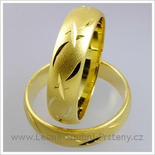 Snubní prsteny LSP 1815 žluté zlato