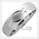 Snubní prsteny LSP 1817 bílé zlato