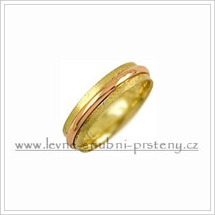 Snubní prsteny LSP 1819 kombinované zlato